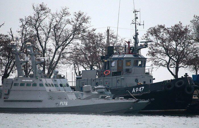 Захоплені українські катери в Керчі
