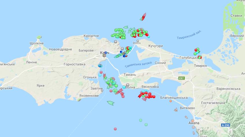 Россия заблокировала украинские порты на Азовском море
