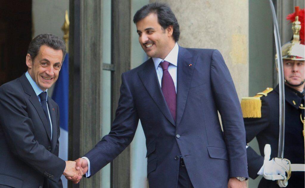 Николя Саркози и Тамим Аль Тани, 2010 год