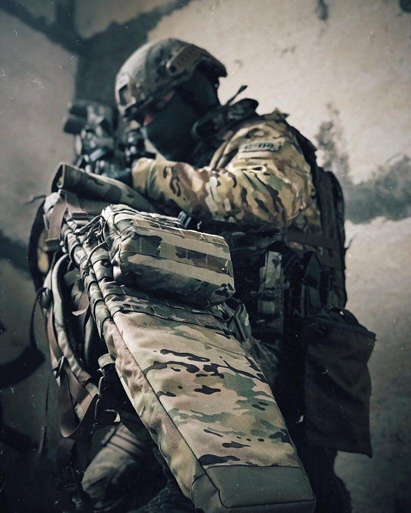 Снайперская пара 801 отряда ВМС ВСУ
