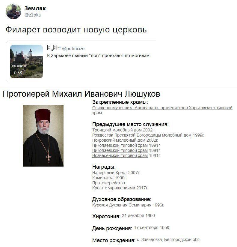Священик, що розгромив могили, виявився росіянином