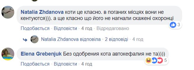 """Фото Порошенка з Варфоломієм """"зіпсував"""" кіт"""