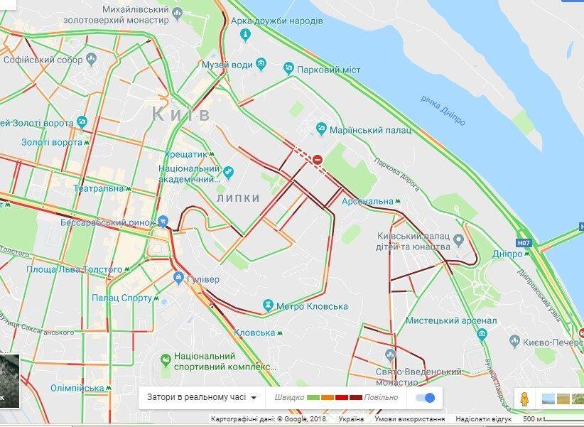 Ожидается коллапс: владельцы евроавто заблокировали центр Киева