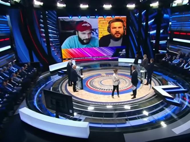 Россияне показывают фрагмент со словами Полтавы