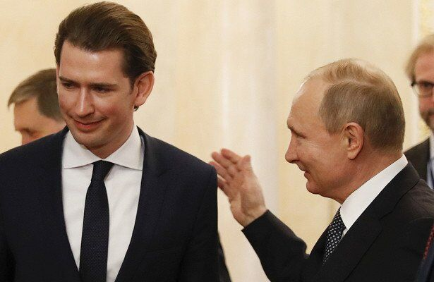 Себастьян Курц и Владимир Путин