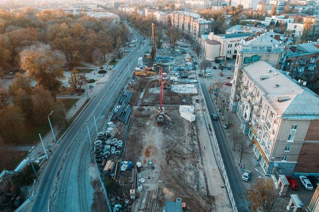 Будівництво метро в Дніпрі: у мережі з'явилися яскраві фото з висоти