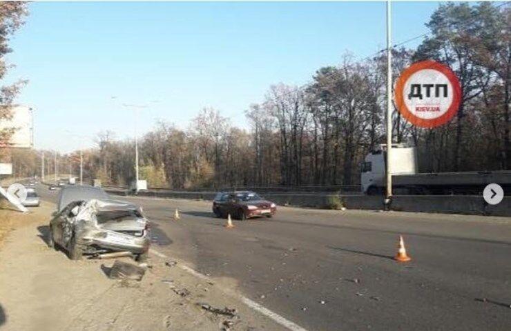 В авто Лещенко врезался грузовик: первые фото с места ДТП
