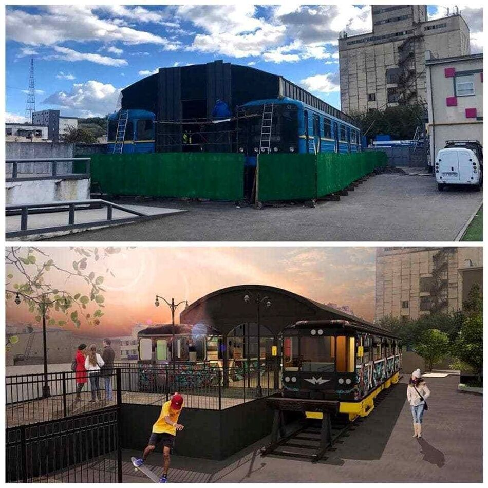 З баром і терасою: у Києві знайшли цікаве застосування старим вагонам метро