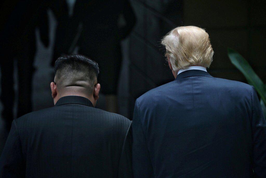 Президент США Дональд Трамп и лиден КНДР Ким Чен Ын