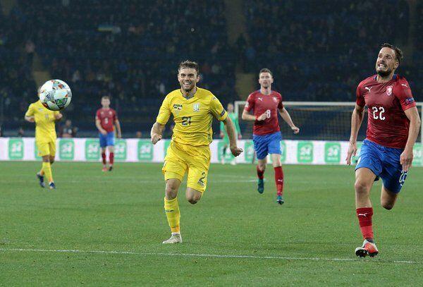 Александр Караваев в форме сборной Украины