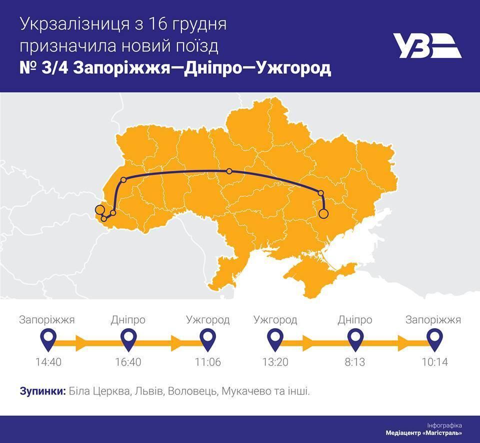 ''Укрзалізниця'' запускает поезд через всю Украину