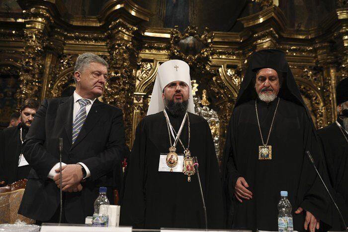 Петр Порошенко и епископ Епифаний