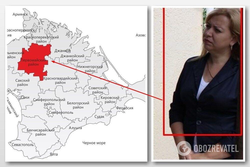 Ольга Калинина — секретарь ТИК Первомайского района (Крым). Есть гражданство РФ, есть или осталось ли украинское - пока неизвестно.