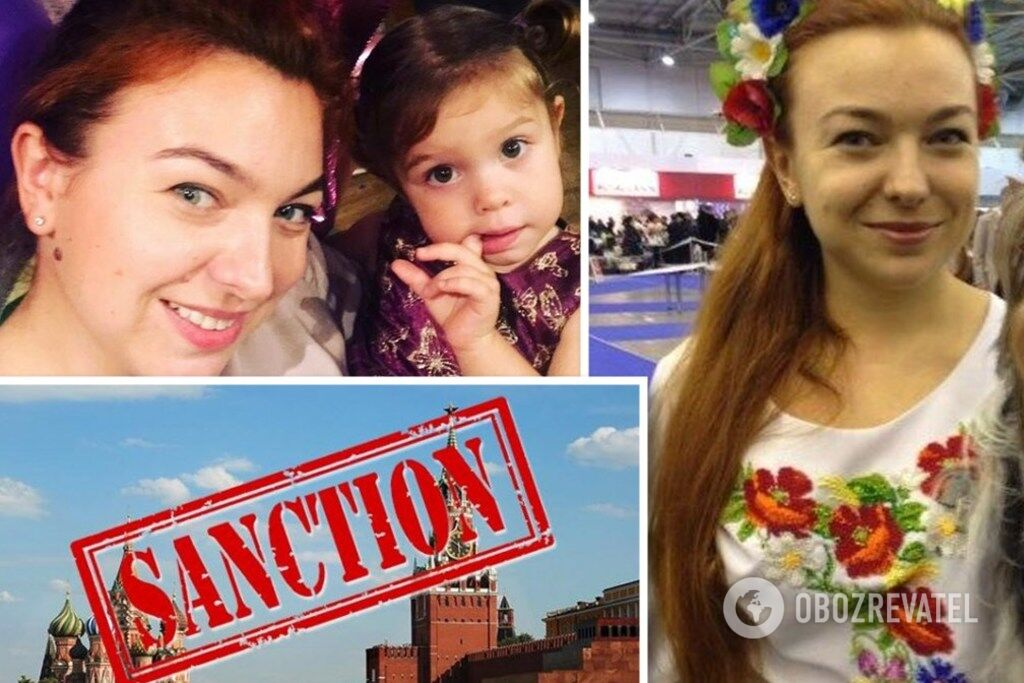 Ольга Калініна із маленькою донькою