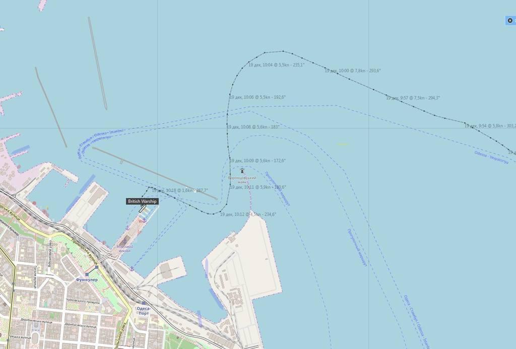Корабль НАТО прибыл на помощь в Украину