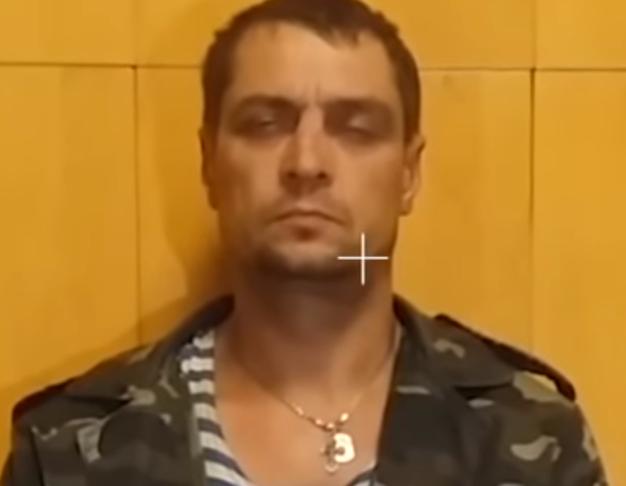 Валерій Іванов на допиті після затримання