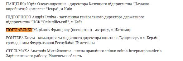 В Украине почтили заслуги погибшей актрисы ''Дизель Шоу''