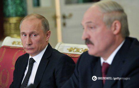 Президент РФ и Беларуси Владимир Путин и Александр Лукашенко