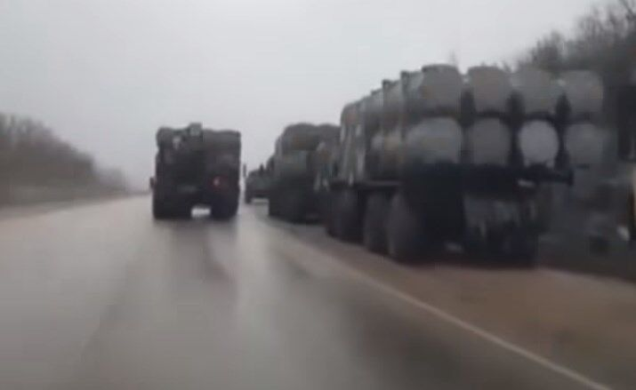 Колона техніки в Криму 27 листопада