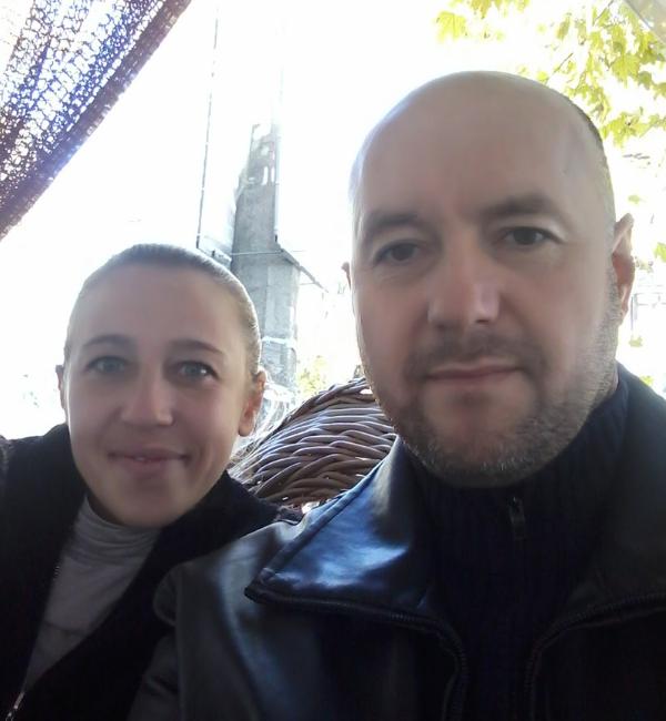 Юлія з чоловіком