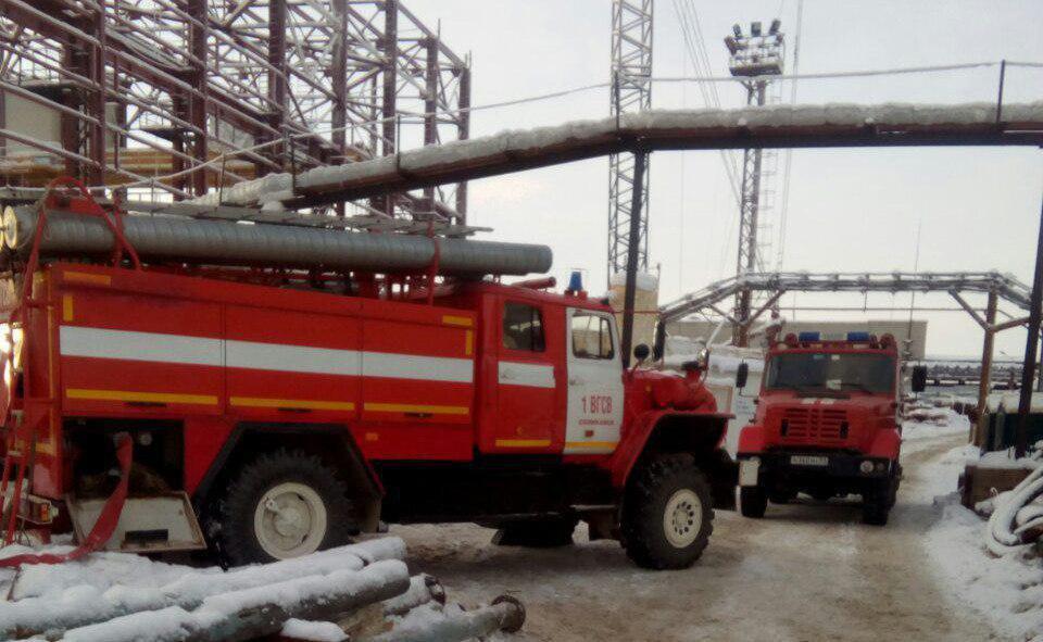 Пожар на шахте в Солекамске