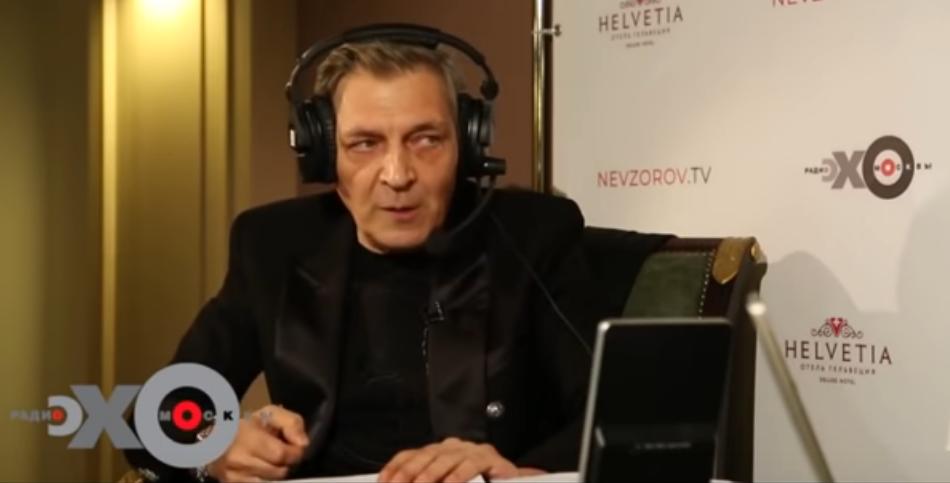 """Александр Невзоров в студии """"Эхо Москвы"""""""
