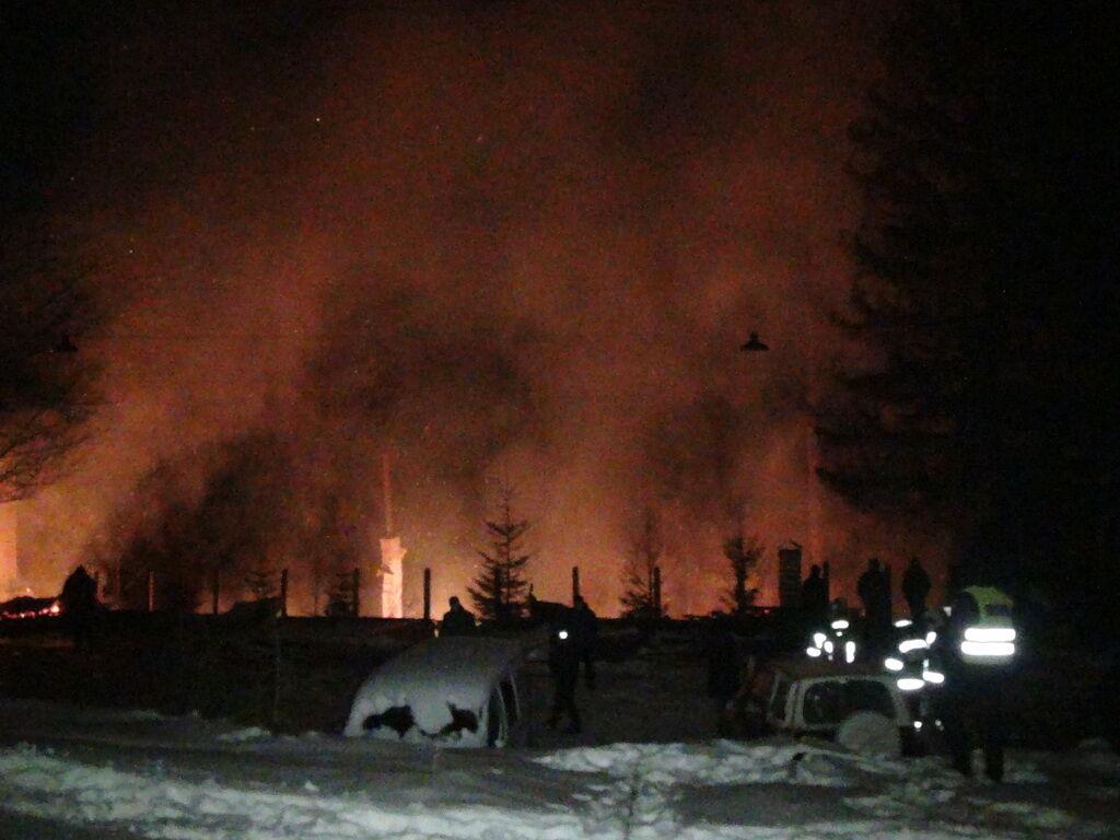 Пожежа в готелі в Карпатах
