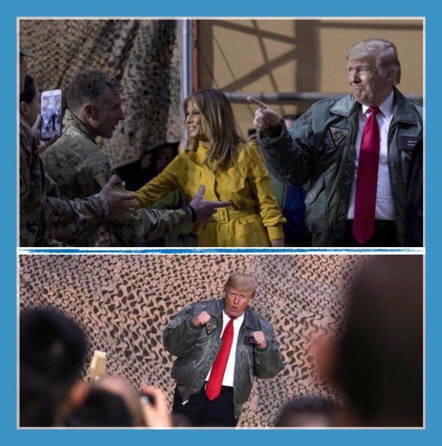 Трамп неожиданно нагрянул в Ирак: фото и видео