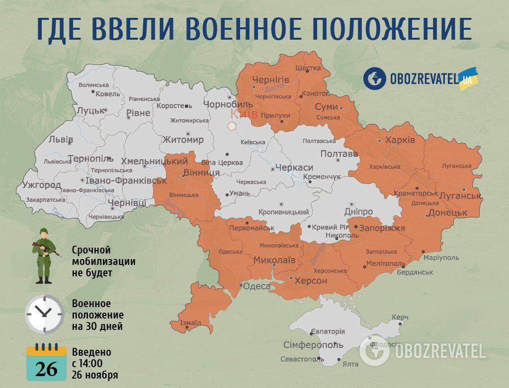 Военное положение в Украине могут ввести заново