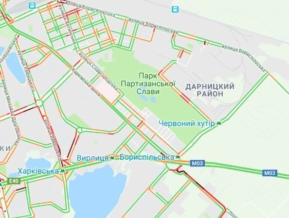 Киев сковали пробки и многочисленные ДТП: карта