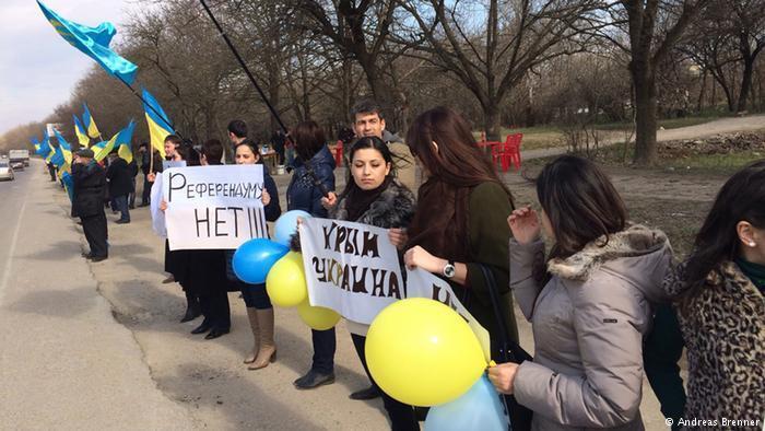 Протест кримських татар проти окупації