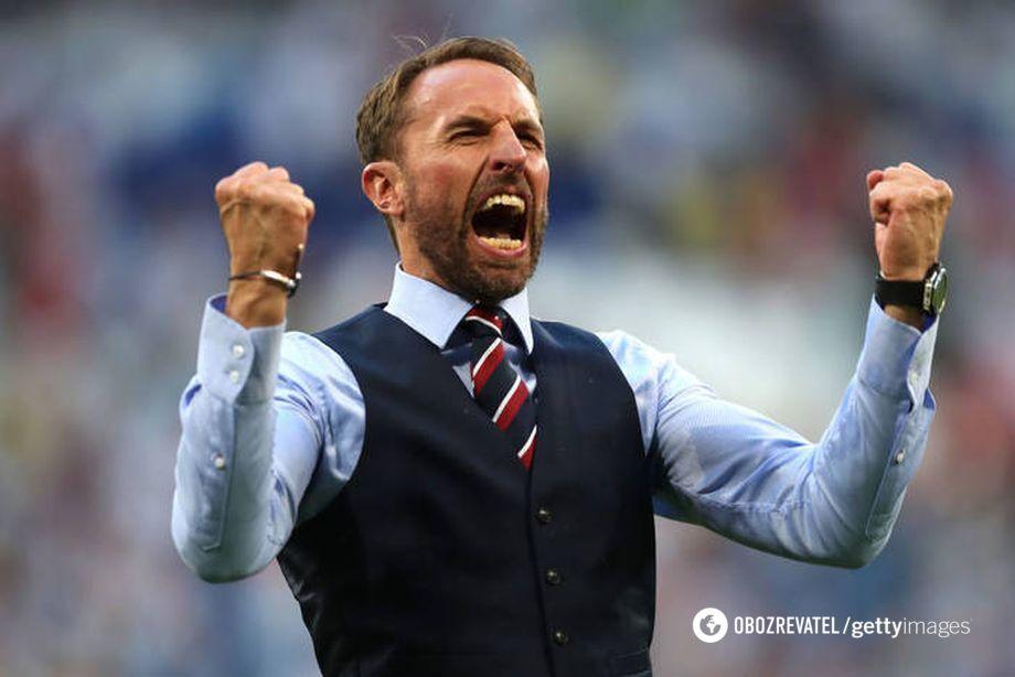 Емоції головного тренера збірної Англії з футболу Гарета Саутгейта