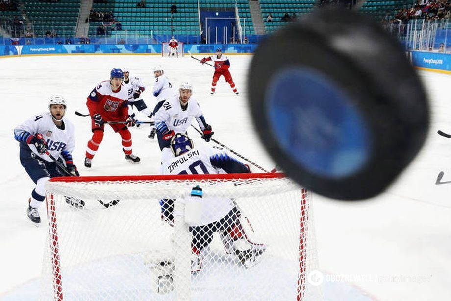 Матч між збірними США і Чехії на хокейному турнірі Олімпіади