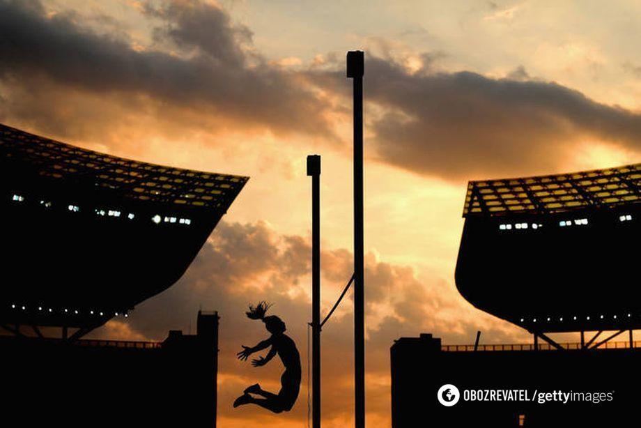 Стрибок української легкоатлетки Марини Кіліпко на чемпіонаті Європи з легкої атлетики в Берліні