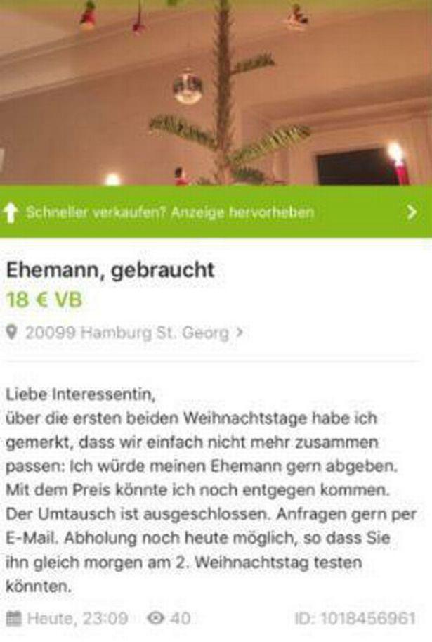 Німкеня намагалась продати чоловіка за 18 євро