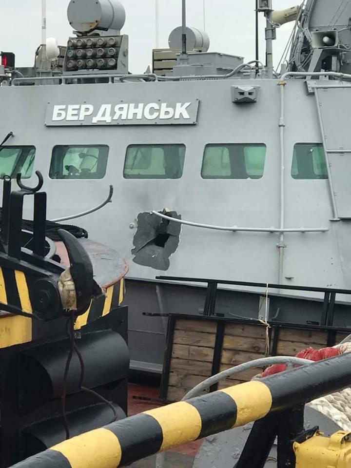 Результат обстрілу ВМС України