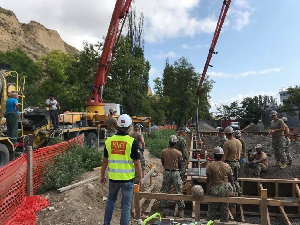 Будівництво операційного центру в Очакові влітку 2018 року