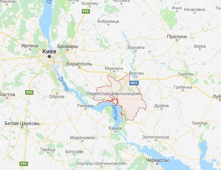 Переяслав-Хмельницький район на карті