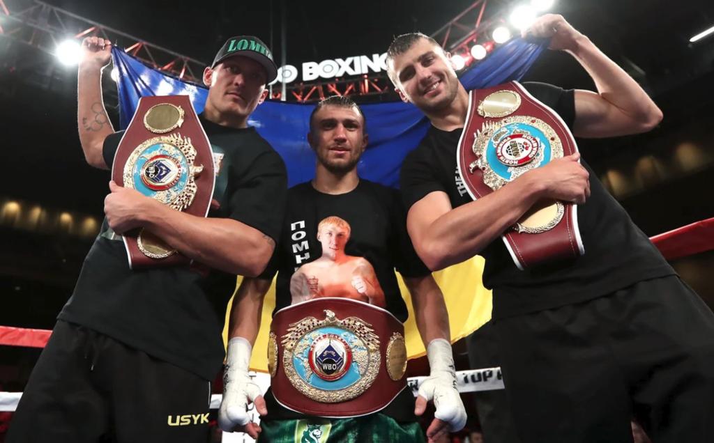 Усик, Ломаченко і Гвоздик після вечора боксу в США
