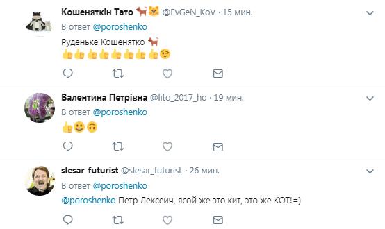Порошенко сделал первый пост про кота