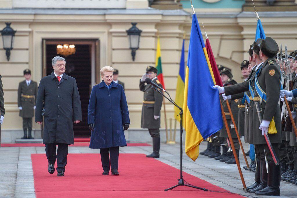 Встреча Дали Грибаускайте и Петра Порошенко