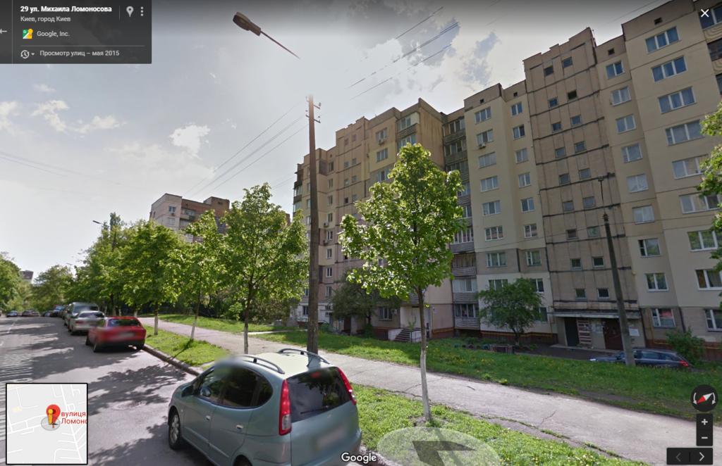 Трагедія трапилася на вул. Ломоносова, 27