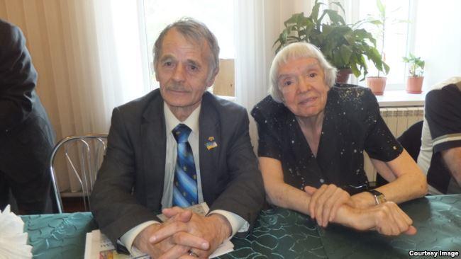 Мустафа Джемилев и Людмила Алексеева. Май 2012 года
