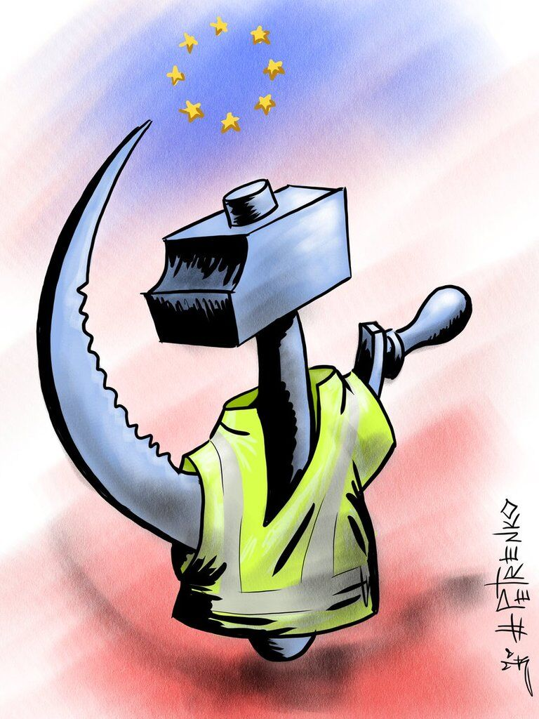 Протести у Франції висміяли їдкою карикатурою