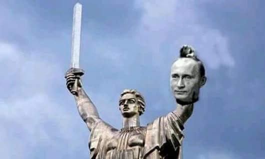 """Монумент """"Батьківщина-мати"""" в Києві прикрасили вінком із маків - Цензор.НЕТ 2690"""