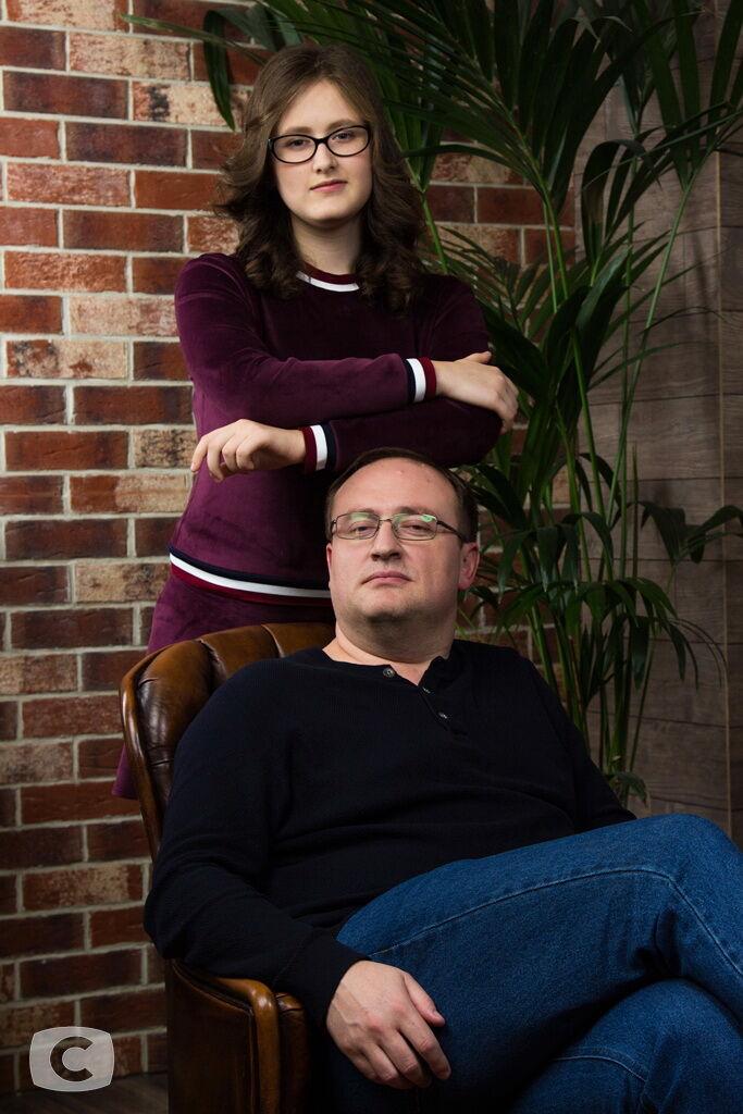 Павел Ткаченко с дочерью