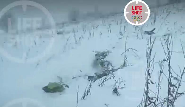 З'явилися перші кадри літака, який розбився в Росії