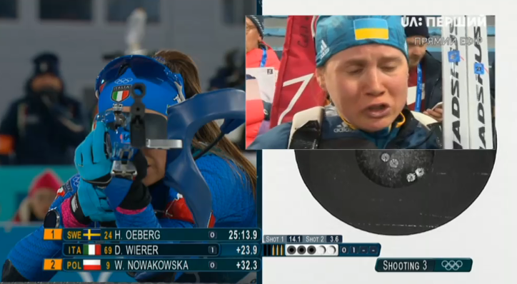Українська біатлоністка розплакалася в прямому ефірі на ОІ