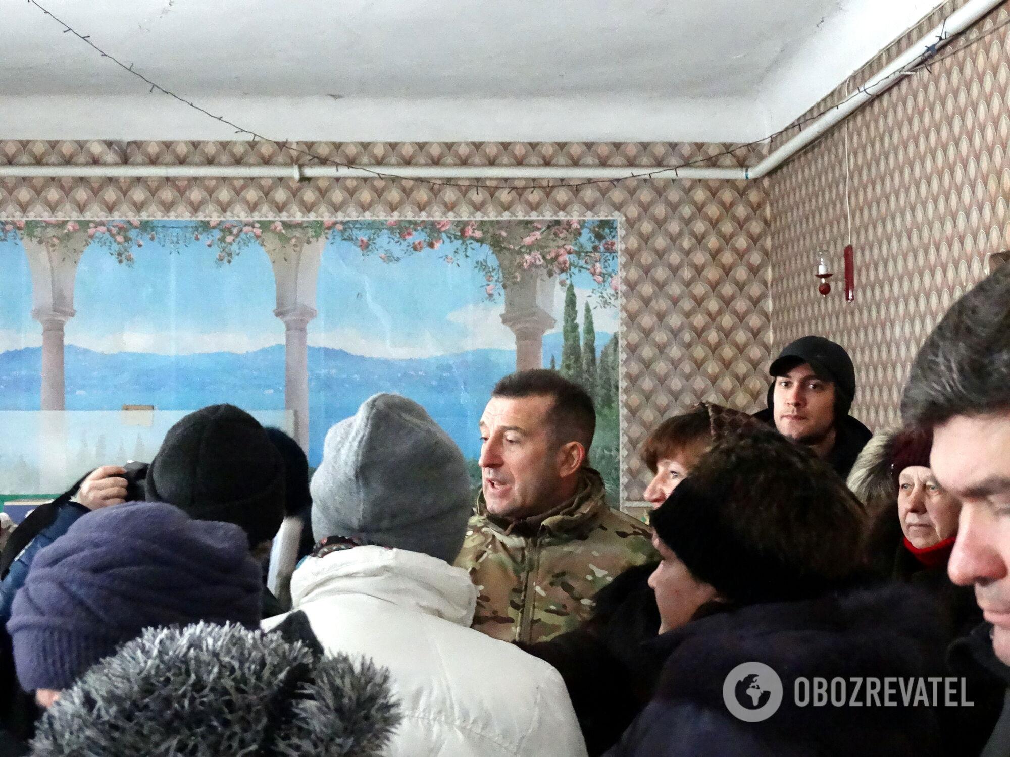 На встрече с руководителями районной государственой и областной военно-гражданской администраций
