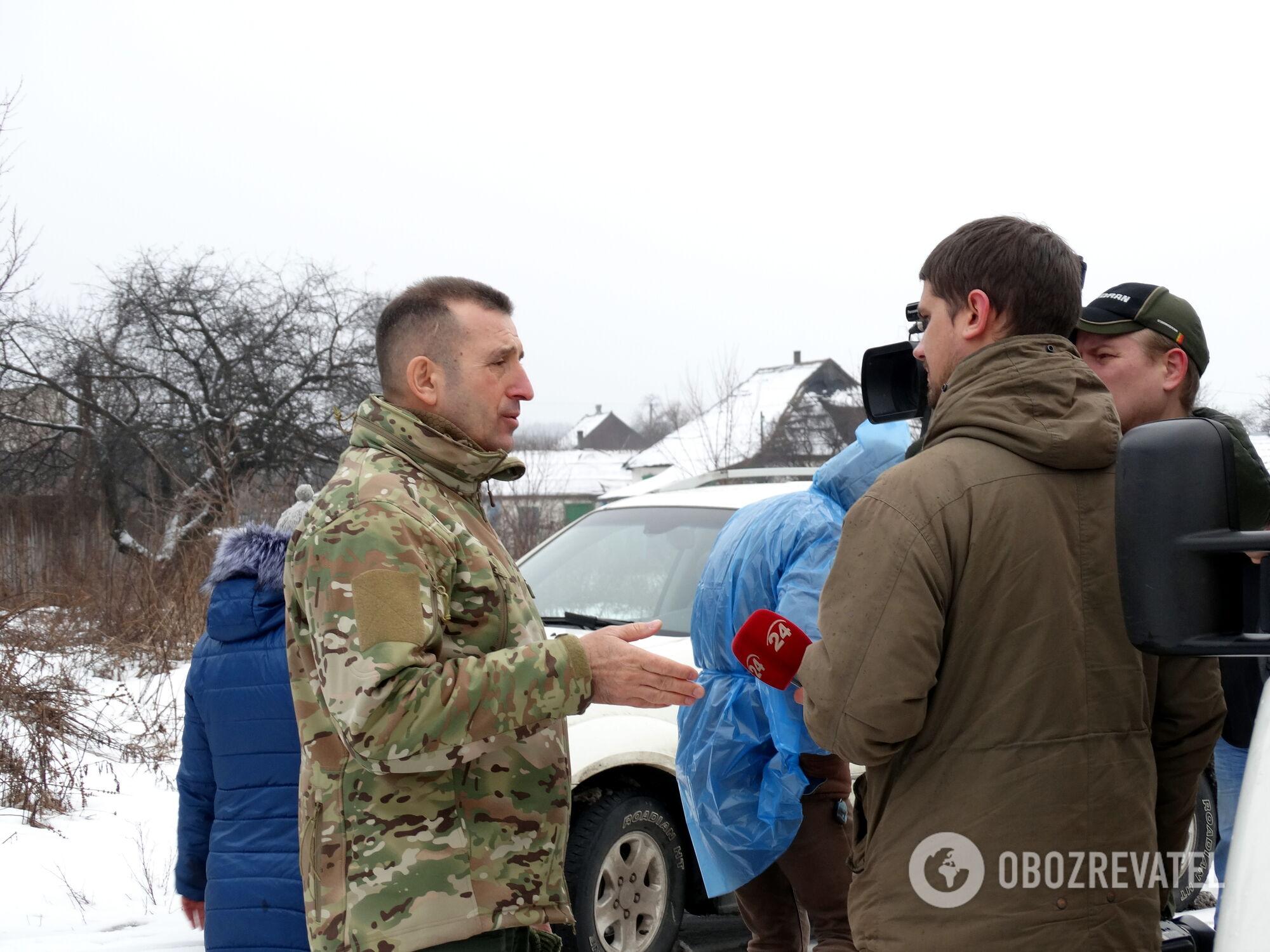 В Катериновку приехали представители местной власти